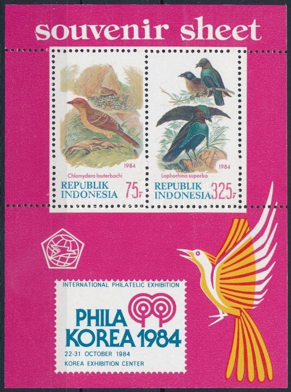 International Stamp Exhibition PHILAKOREA, Birds block, Nemzetközi Bélyegkiállítás PHILAKOREA, Madarak blokk