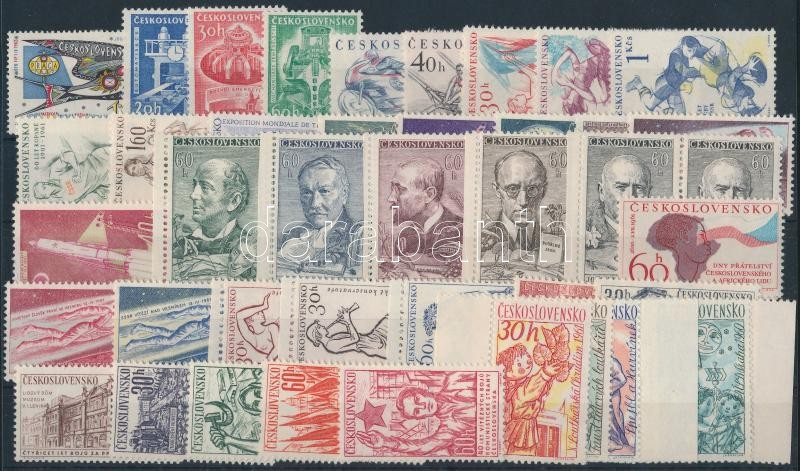 1961-1962 8 set + 4 stamps, 1961-1962 8 klf sor + 4 klf önálló érték