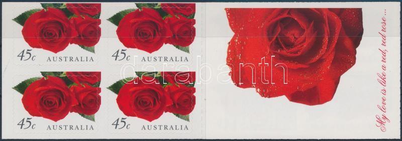 Greeting Stamp, Roses self-adhesive stampbooklet, Üdvözlőbélyeg; Rózsák öntapadós bélyegfüzet
