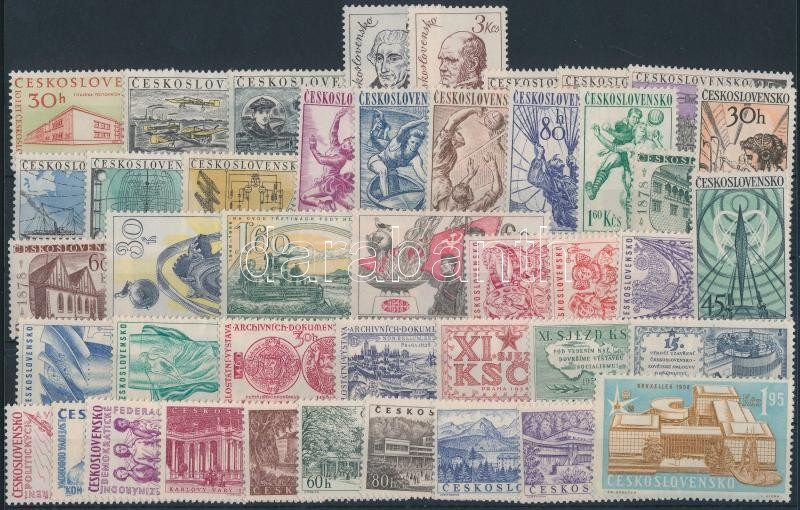 1958-1959 13 set + 2 stamps, 1958-1959 13 klf sor + 2 klf önálló érték