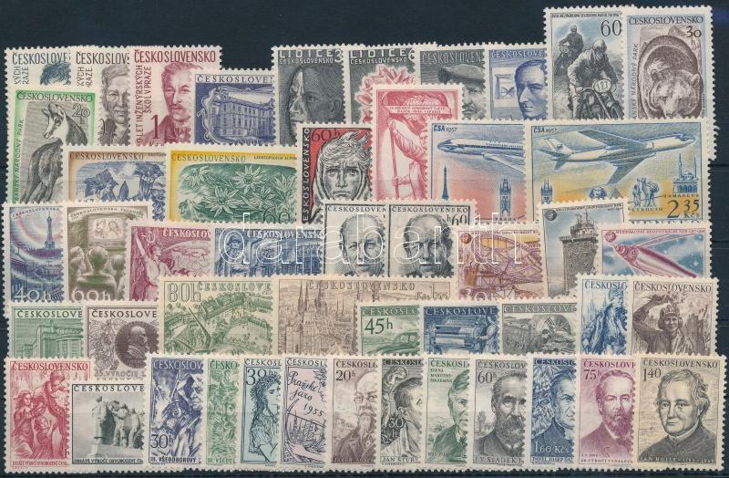 1955-1957 14 set + 8 stamps, 1955-1957 14 klf sor + 8 klf önálló érték