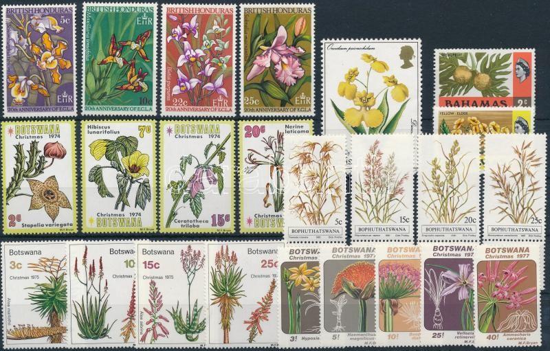 1968-1981 Flower 5 sets + 3 stamps, 1968-1981 Virág motívum 5 sor + 3 db önálló érték