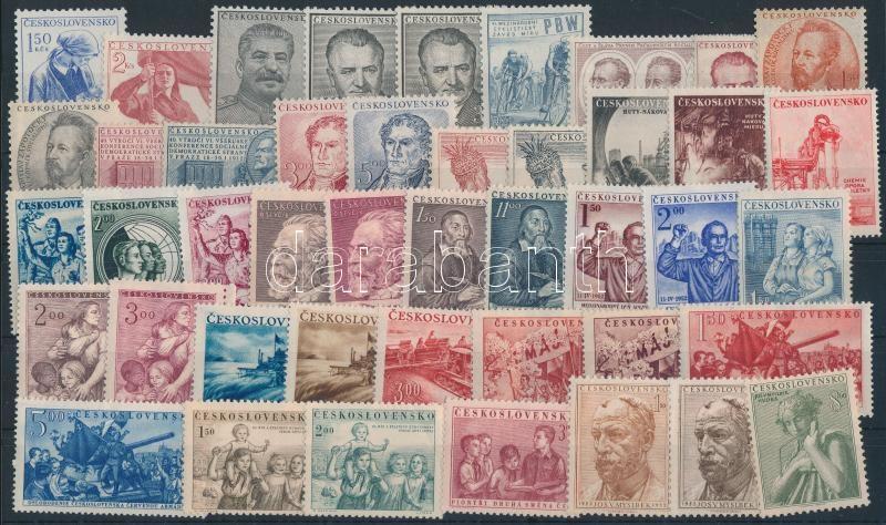 1952-1953 16 set + 5 stamps, 1952-1953 16 klf sor + 5 klf önálló érték