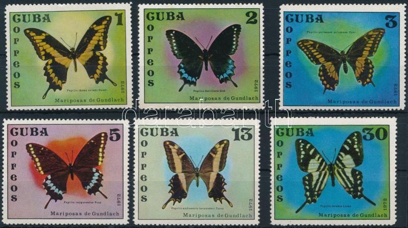 Pillangó sor 6 értéke (hiányzik/missing Mi 1805), Butterfly set, missing Mi 1805