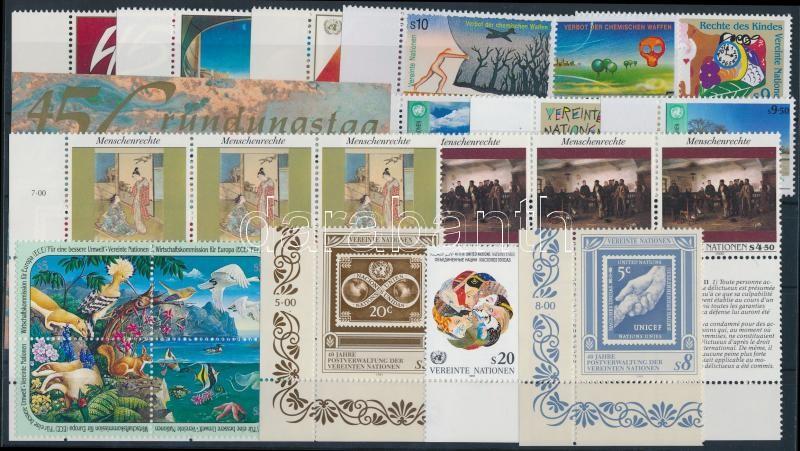 1990-1991 12 stamps + 2 stripes of 3 + block of 4 + block, 1990-1991 12 klf bélyeg + 2 klf hármascsík + négyestömb + blokk