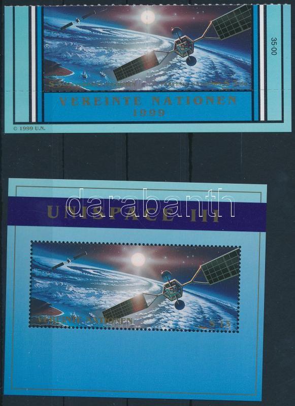 Space research pair + block, Űrkutatás pár + blokk