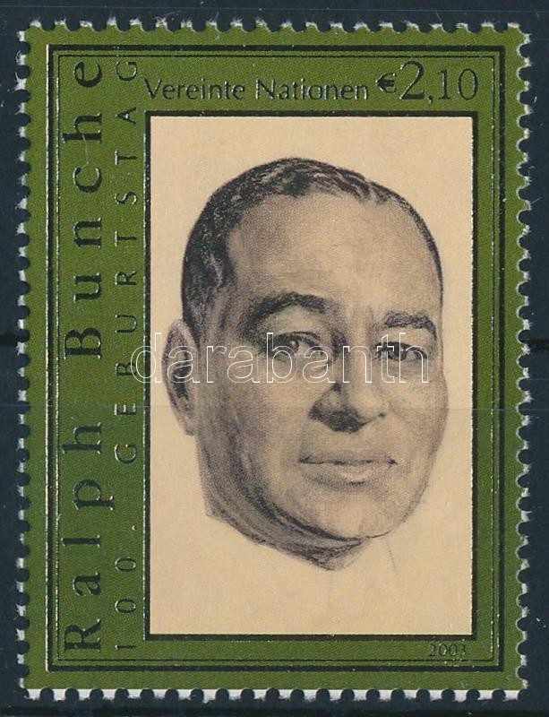 Ralph Bunche stamp, 100 éve született Ralph Bunche
