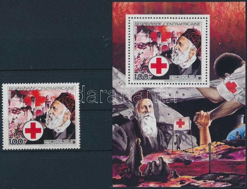 Henry Dunant stamp + blokk, Henry Dunant bélyeg + blokk