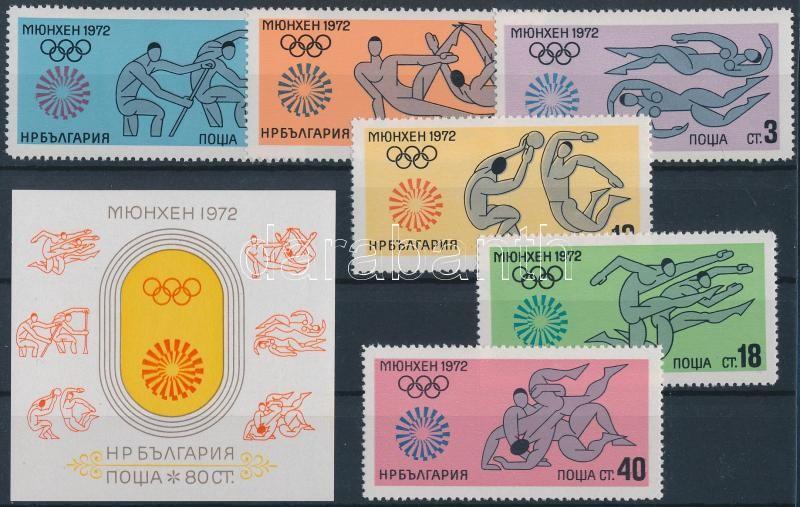 Summer olympics set + blokk, Nyári olimpia sor + blokk