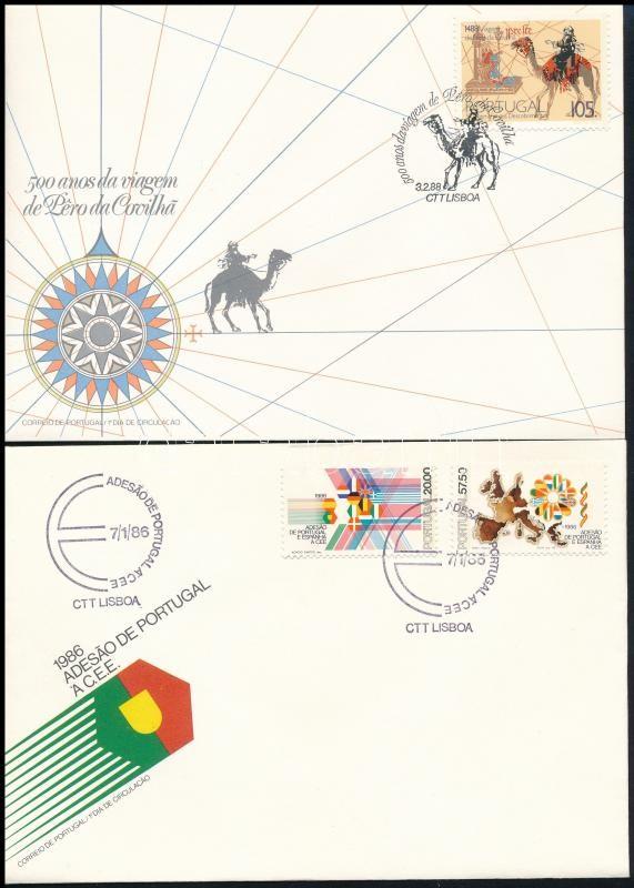1986-1988 4 FDC, 1986-1988 4 klf FDC