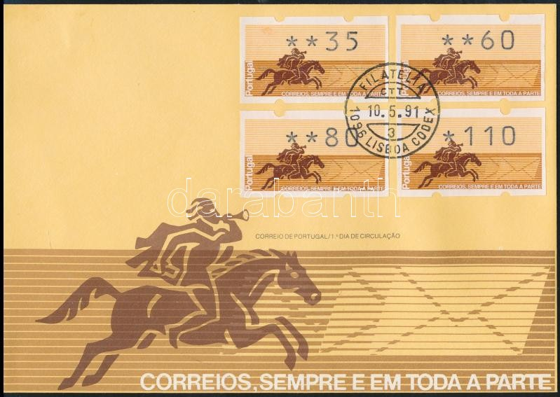 4 automatic stamps FDC, 4 klf automatabélyeg FDC-n