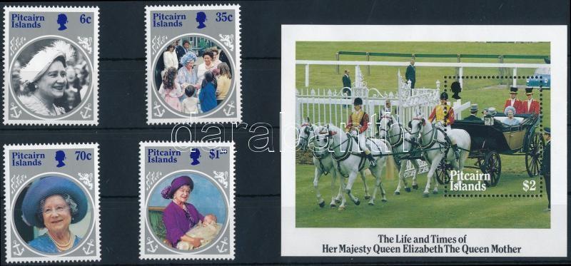 Elizabeth Queen Mother set + block, Erzsébet anyakirályné sor + blokk