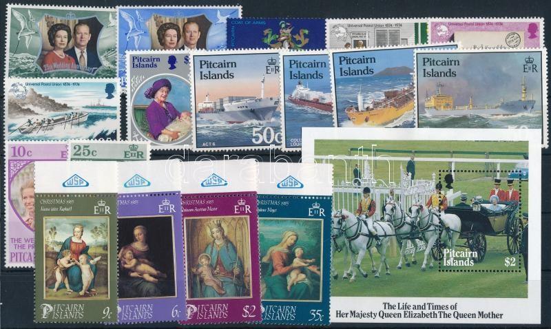 1972-1985 17 stamps + block, 1972-1985 17 klf bélyeg + blokk
