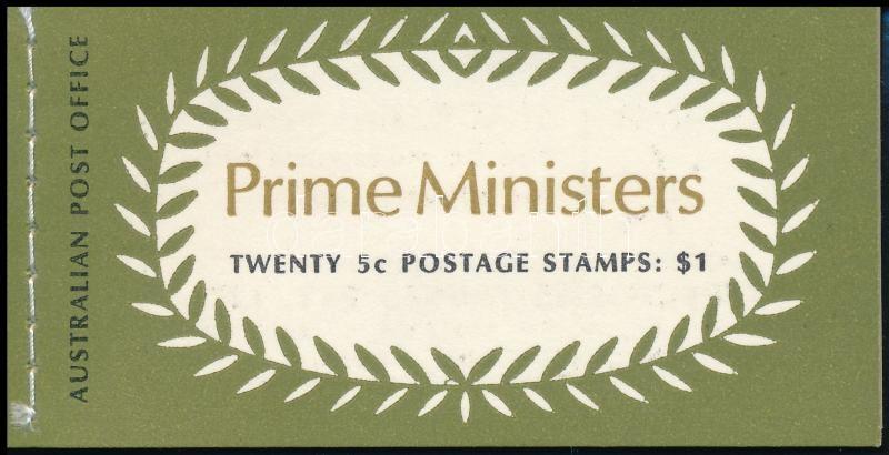 Presidents stampbooklet, Miniszterelnökök bélyegfüzet
