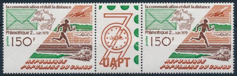 International Stamp Exhibition closing values pair with coupon, Nemzetközi bélyegkiállítás záróérték szelvényes párban