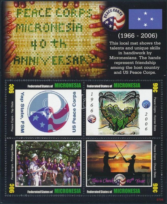 Peace Corps mini sheet, Béke Hadtest kisív