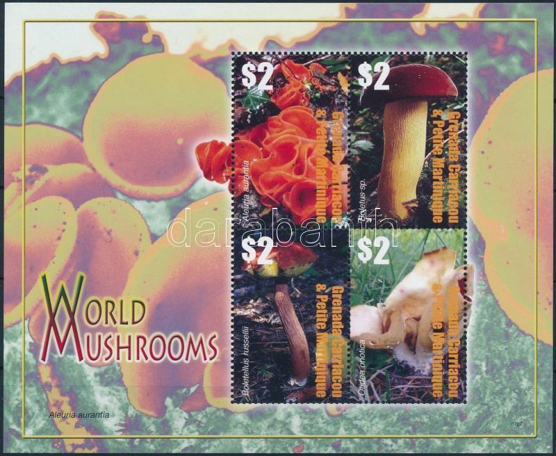 Mushroom mini sheet, Gomba kisív