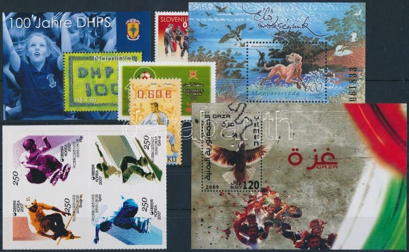 2006-2009 3 block + 3 stamps + block of 4, 2006-2009 3 klf blokk + 1 4-es tömb + 3 klf önálló érték