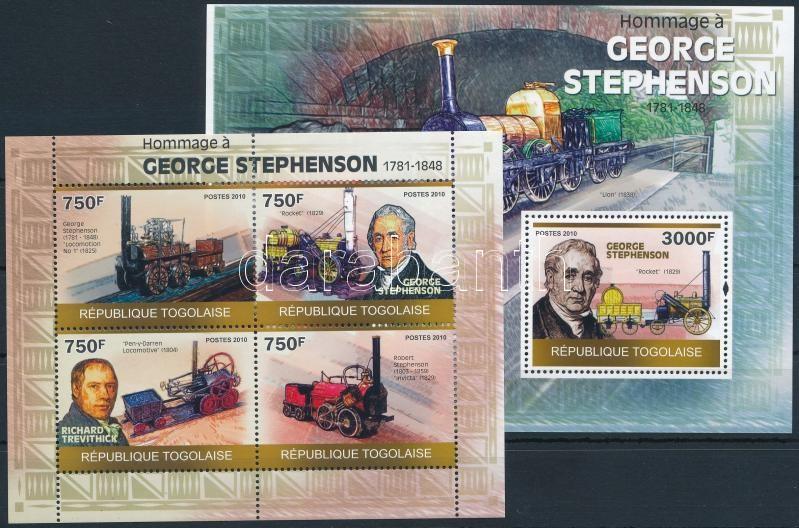 Railway mini sheet + block, Vasút kisív + blokk