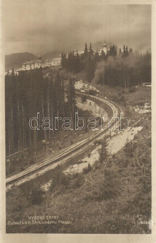 Tatry, Zubacka Strbskému Plesu / funicular railway, Tátra, Csorba tó fogaskerekű vasút