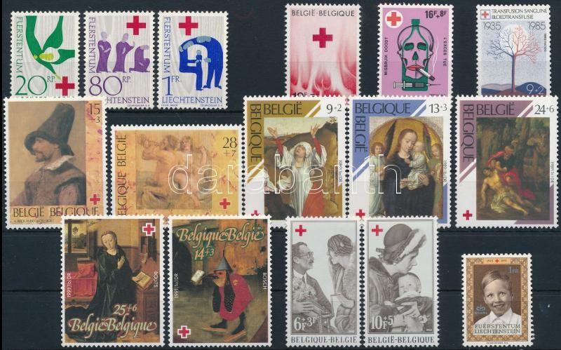 1963-1993 Red Cross 6 sets + 4 stamps, 1963-1993 Vöröskereszt motívum 6 klf sor + 4 db önálló érték