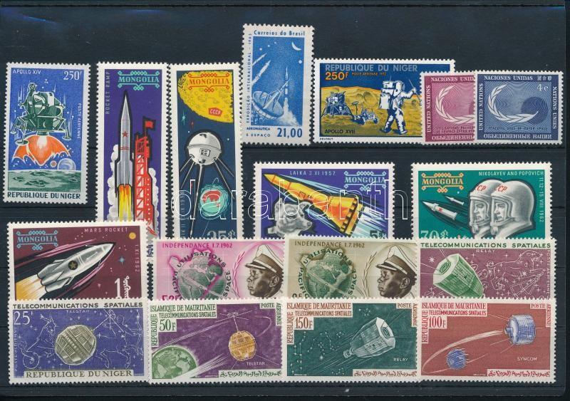 1957-1971 Space Research 17 stamps, 1957-1971 Űrkutatás 17 klf bélyeg