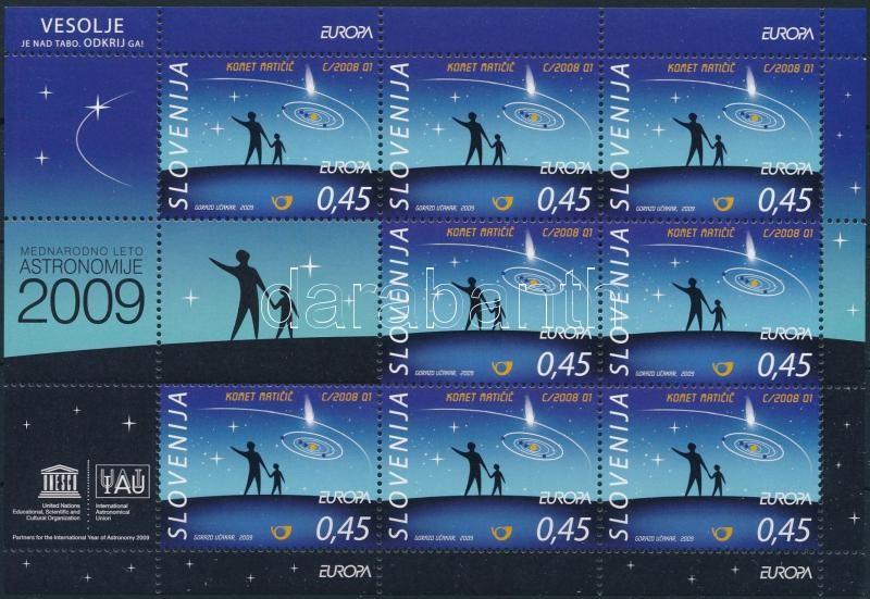 Europa CEPT: Asztronómia kisív, Europa CEPT: Astronomy mini sheet