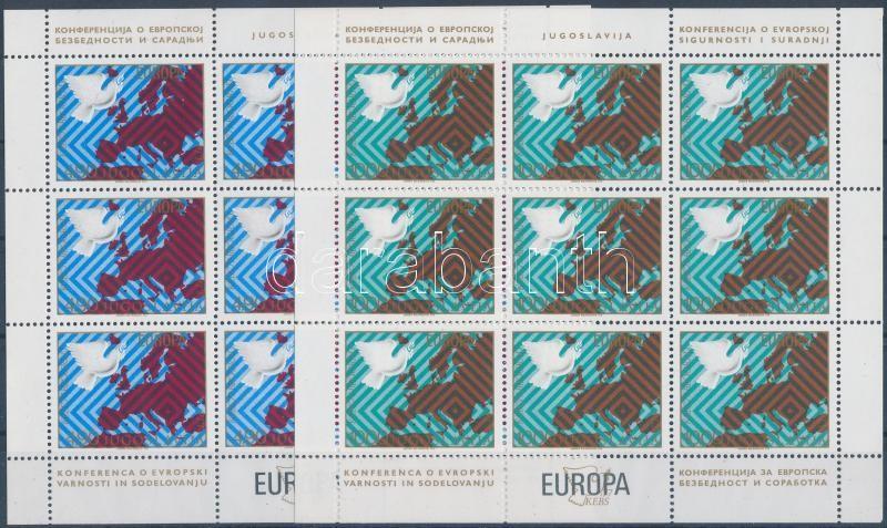 Europa CEPT mini sheet set, Europa CEPT kisívsor