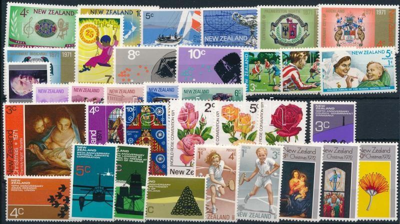 1971-1972 35 stamps, almost two full-year editions, 1971-1972 35 klf bélyeg, csaknem a teljes két évfolyam kiadásai