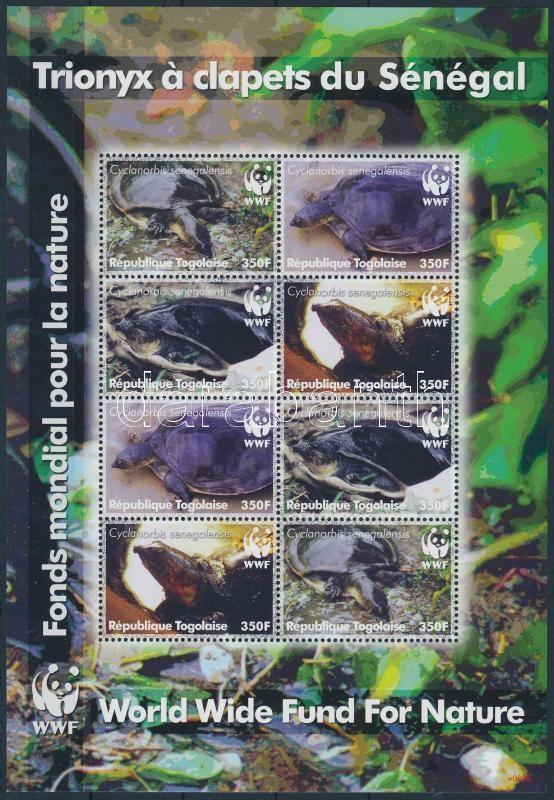 WWF: Turtle mini sheet, WWF: Teknős kisív