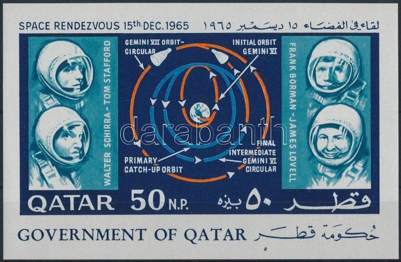 Space travel imperforated block, Űrutazás vágott blokk