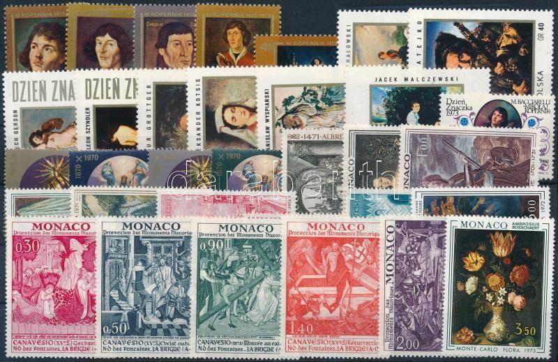 Painting motive 1971-1974 4 sets + 7 diff stamps, Festmény motívum 1971-1974 4 klf sor + 7klf önálló érték