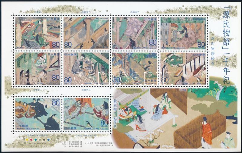 1000th anniversary of Gendzsi's novel mini sheet, 1000 éves Gendzsi regénye kisív