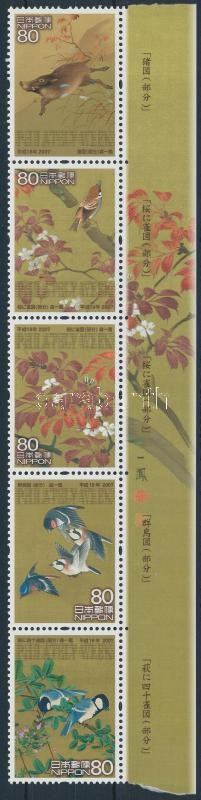 Stamp Week margin stripe of 5, Bélyeghét ívszéli ötöscsík