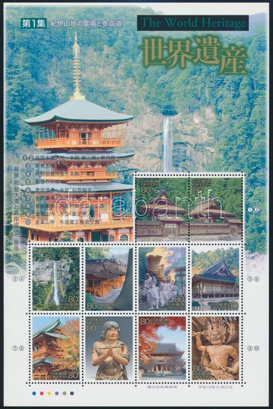 UNESCO World Heritage mini sheet, UNESCO Világörökség kisív