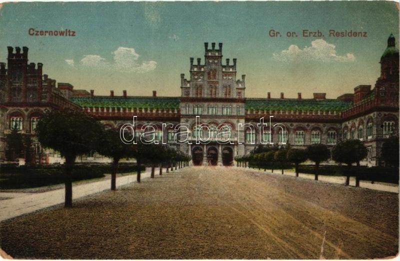 Chernivtsi, Czernowitz; Gr. or. Erzb. Residenz / castle
