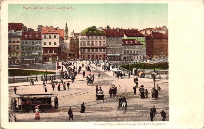 Vienna, Wien; Kaiser Ferdinandsbrücke / bridge, tram