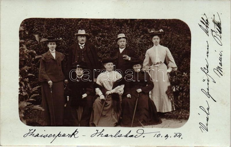 1904 Karlovy Vary, Karlsbad; Kaiserpark / family photo