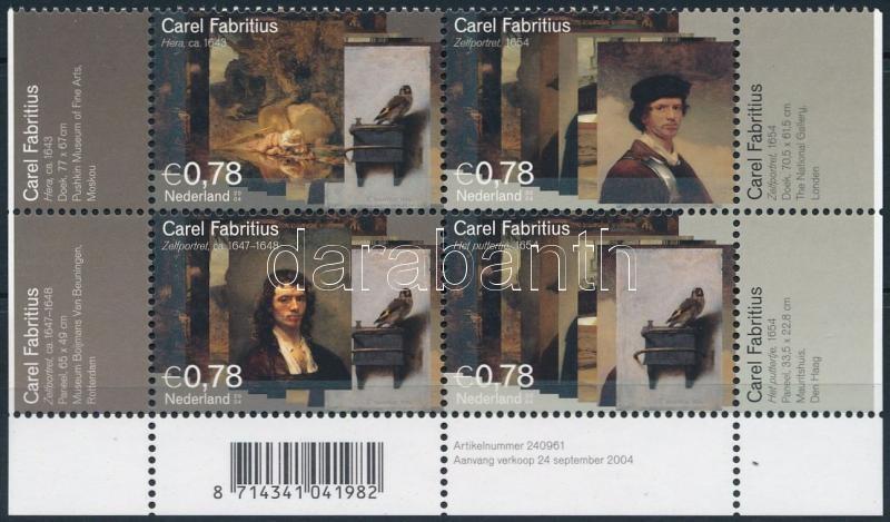 Carel Fabritius corner block of 4, Carel Fabritius ívsarki négyestömb