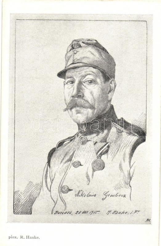 Nikolaus Gombocz, K.u.K. Feldkanonenregiment Nr. 39. s: R. Hanke, Nikolaus Gombocz tüzér, K.u.K. Feldkanonenregiment Nr. 39. s: R. Hanke