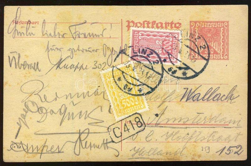 Spica and double eagle stamps, Kalász és kétfejű sas bélyegek, Kornähre und Doppeladler Marken