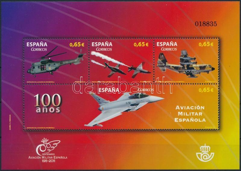 Spanish Air Force anniversary block, Spanyol légierő évfordulója blokk