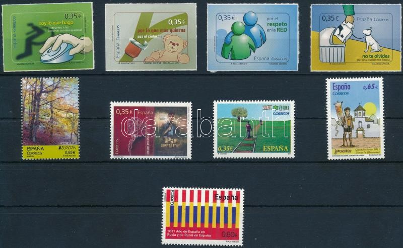 5 stamps + 1 self-adhesive set, 5 klf bélyeg + 1 öntapadós sor