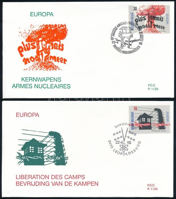 Europa CEPT sor 2 db FDC-n, Europa CEPT set on 2 FDC