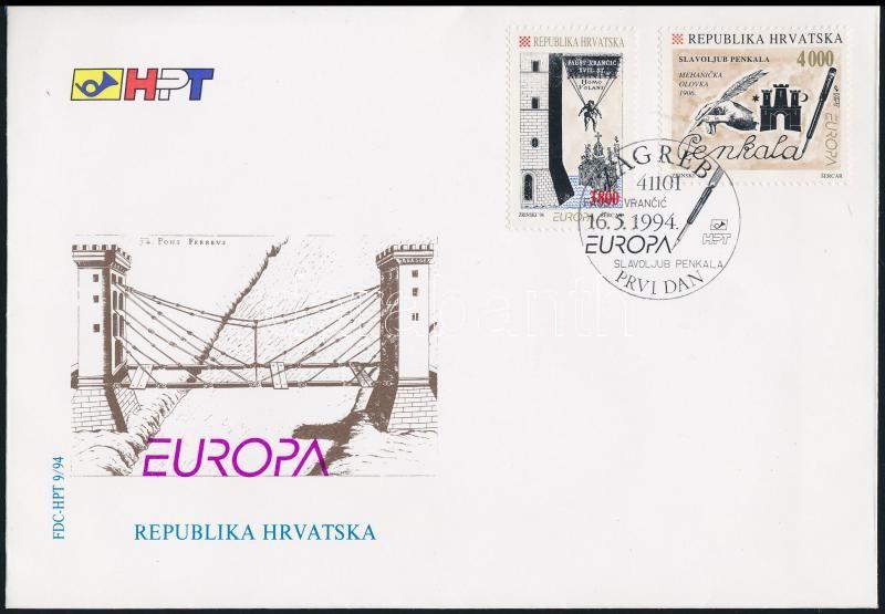 Europa CEPT: Discovery and inventions set FDC, Europa CEPT: Felfedezések és találmányok sor FDC-n