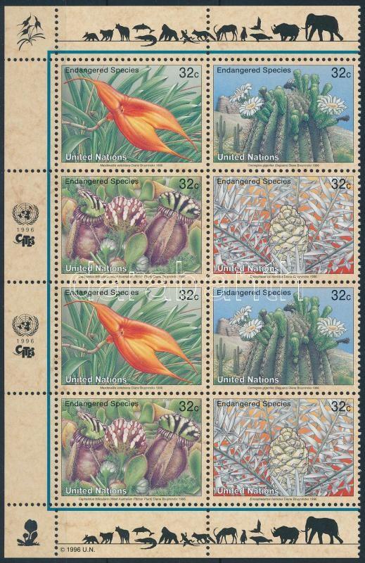 Endangered species corner block of 8, Veszélyeztetett fajok ívsarki 8-s tömb