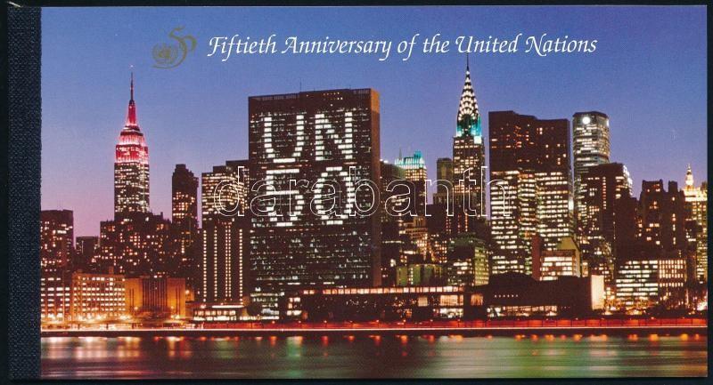 50th anniversary of the UN stamp booklet, 50 éves az ENSZ bélyegfüzet