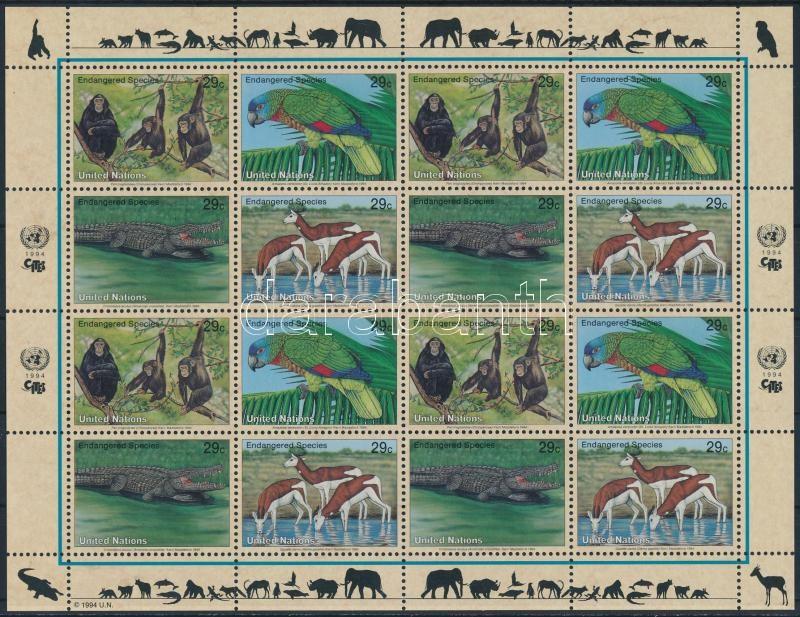 Endangered species complete sheet, Veszélyeztetett fajok teljes ív
