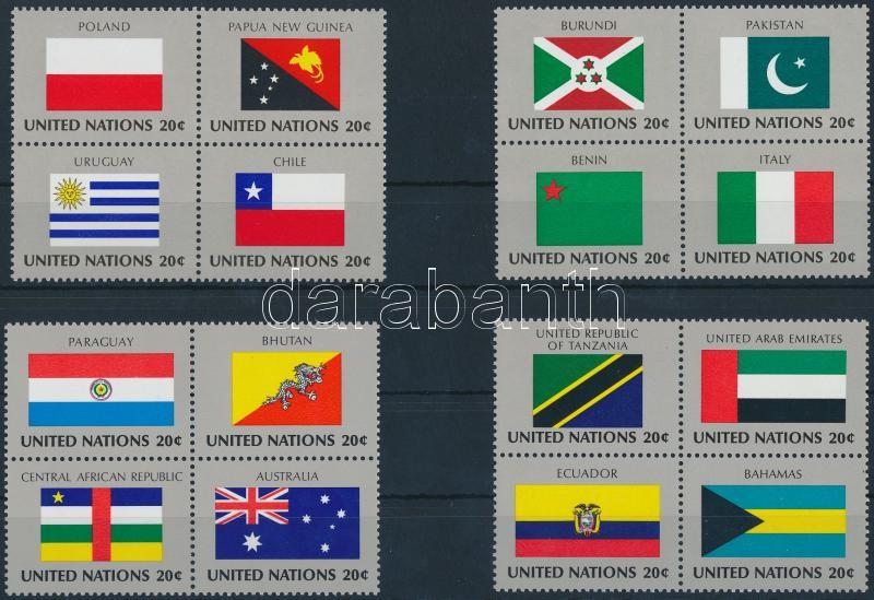 Flag set in blocks of 4, Zászló sor négyestömbökben