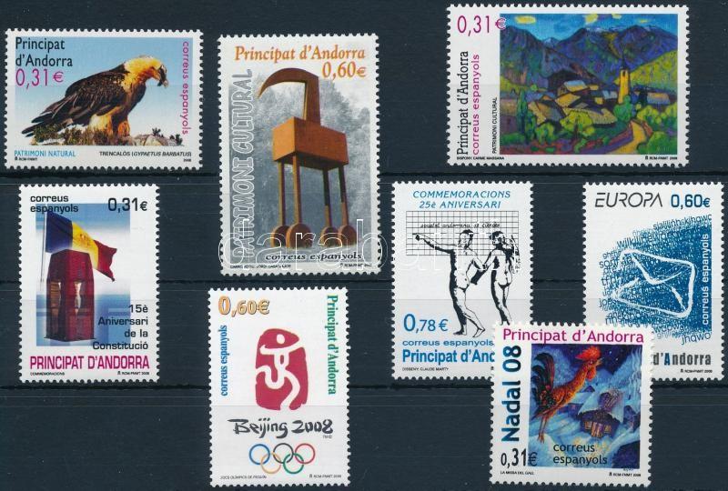 8 diff stamps, 8 klf bélyeg